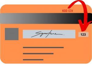 kod CCV na karcie płatności