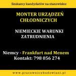 Monter urządzeń chłodniczych – niemieckie warunki zatrudnienia