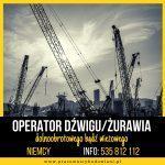 Operator dźwigu/żurawia – niemiecka umowa – Niemcy